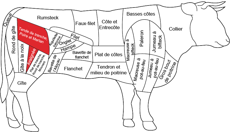 tende de tranche de bœuf grossiste viande bœuf boucherie charcuterie saprimex